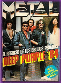 deep purple, argentinian magazine cover 1984