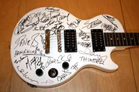 jon lord, signed guitar